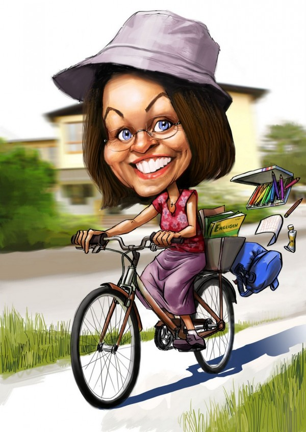 Karikatur Digital Painting